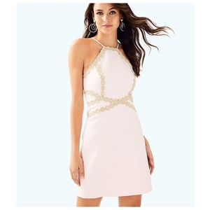 Lilly Pulitzer Pearl Shift Pink & Gold Dress